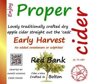 Early Harvest Real Cider 20 Litres (35 Pint) TRADE BOX