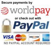 Pay securely with credit cards by PayPal